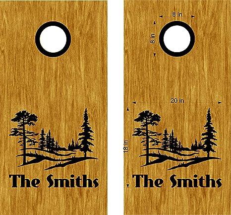 Surprising Amazon Com Stickerchef Cornhole Boards Decals Skins Nature Machost Co Dining Chair Design Ideas Machostcouk