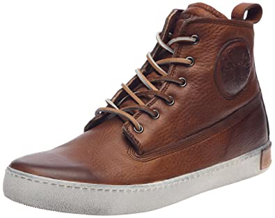 Blackstone Men's AM02 High Top Fashion SneakerOld Yellow/Brown41 EU(8-8.5 M