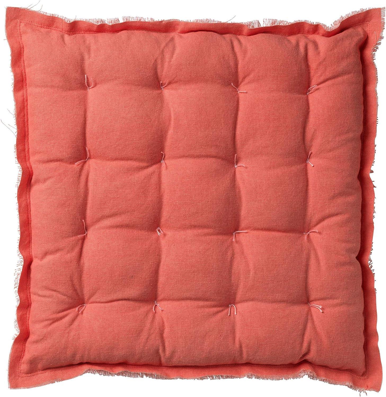 Dutch Decor 100/% cotton Sitzkissen Matratzekissen Burto 40x40 cm rosa