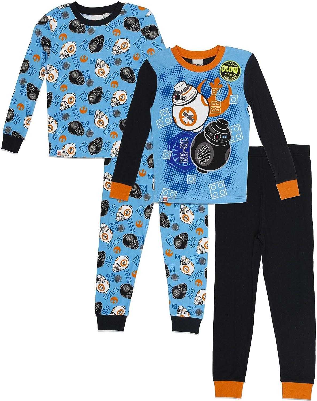 LEGO Boys' Little Star Wars 4 pc Pajama 2 Sets Long Sleeve Pant