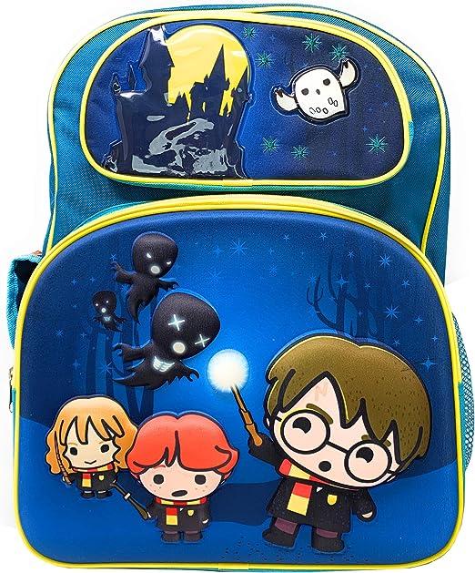 Accessory Innovations LLC Harry Potter Chibi 3-D - Mochila con Hedwig, Harry, Ron y Hermione corriendo de Dementors