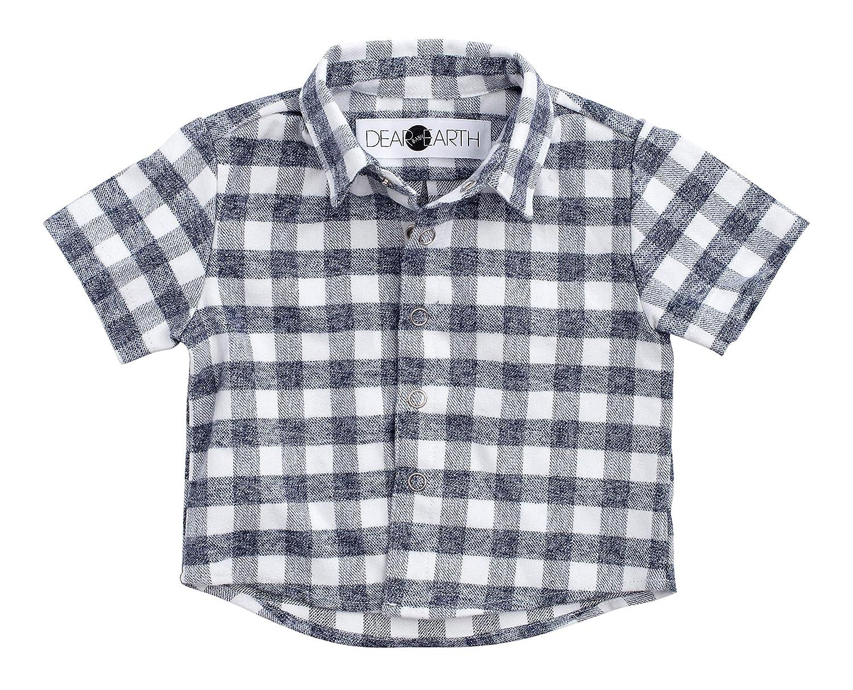 Dear Earth Baby Snap Down Organic Cotton Light Flannel Plaid Shirt 0-24 Months