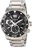 Invicta Men's 0760 Ocean Reef Reserve Chronograph Black Dial Stainless Steel Watch