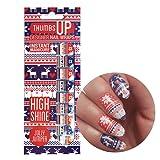 ThumbsUp Nails Jolly Jumper Christmas Jumper Nail Wraps / Self-adhesive / Nail Foil Polish Strips / Full Coverage Nail Art Stickers / 20 Wraps Per Pack