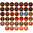 Two Rivers Coffee Bold & Dark Roast Coffee Pods, Compatible with 2.0 Keurig K-Cup Brewers, Assorted Bold Variety Pack, 40 Cou