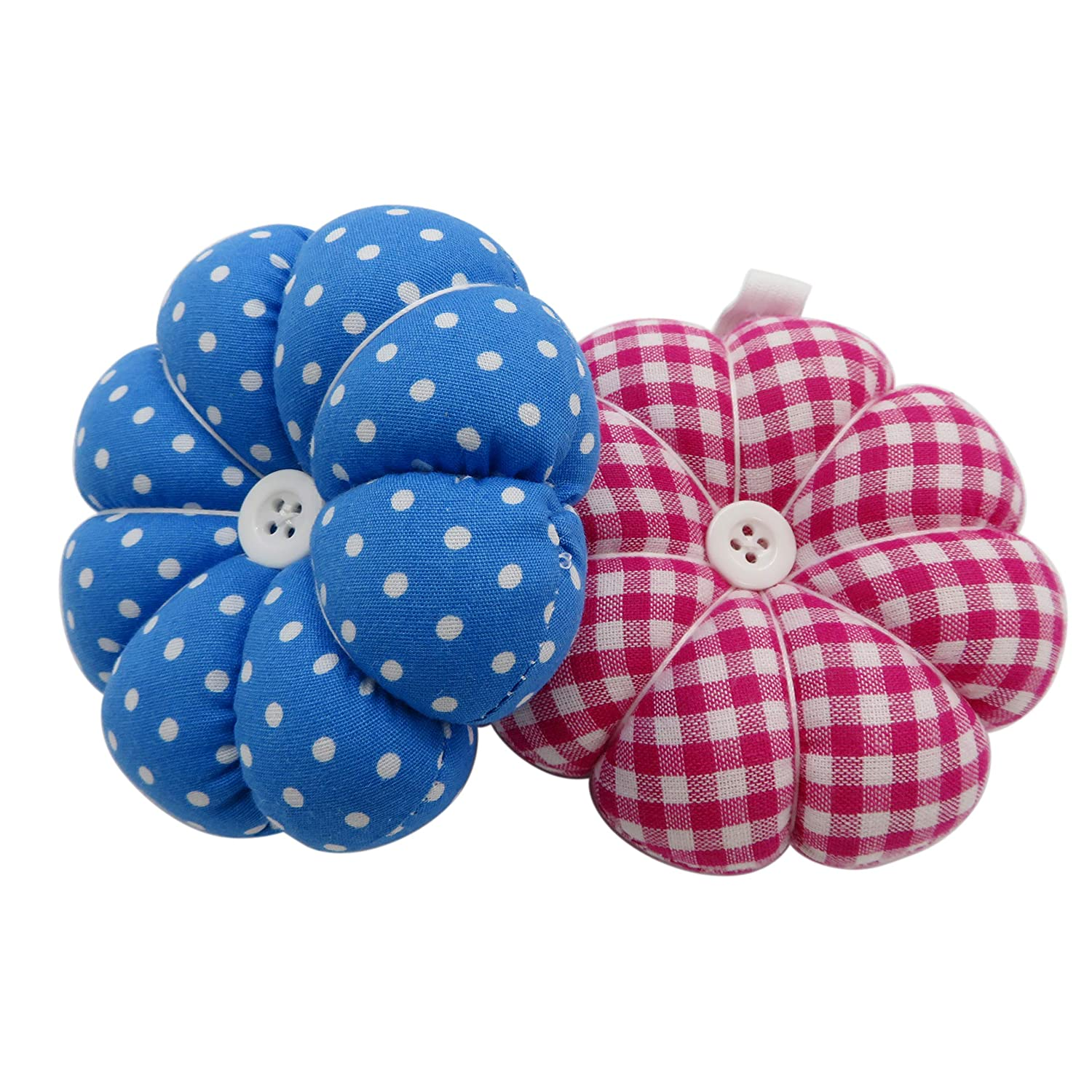 DODOGA Wrist Pin Cushions Pumpkin Shape Wrist Wearable Needle Pin Cushions Pincushions with Wrist Band for Sewing Work(2pcs)