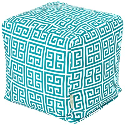Majestic Home Goods Pacific Towers Cube, Small, Turquoise : Patio Ottomans : Garden & Outdoor