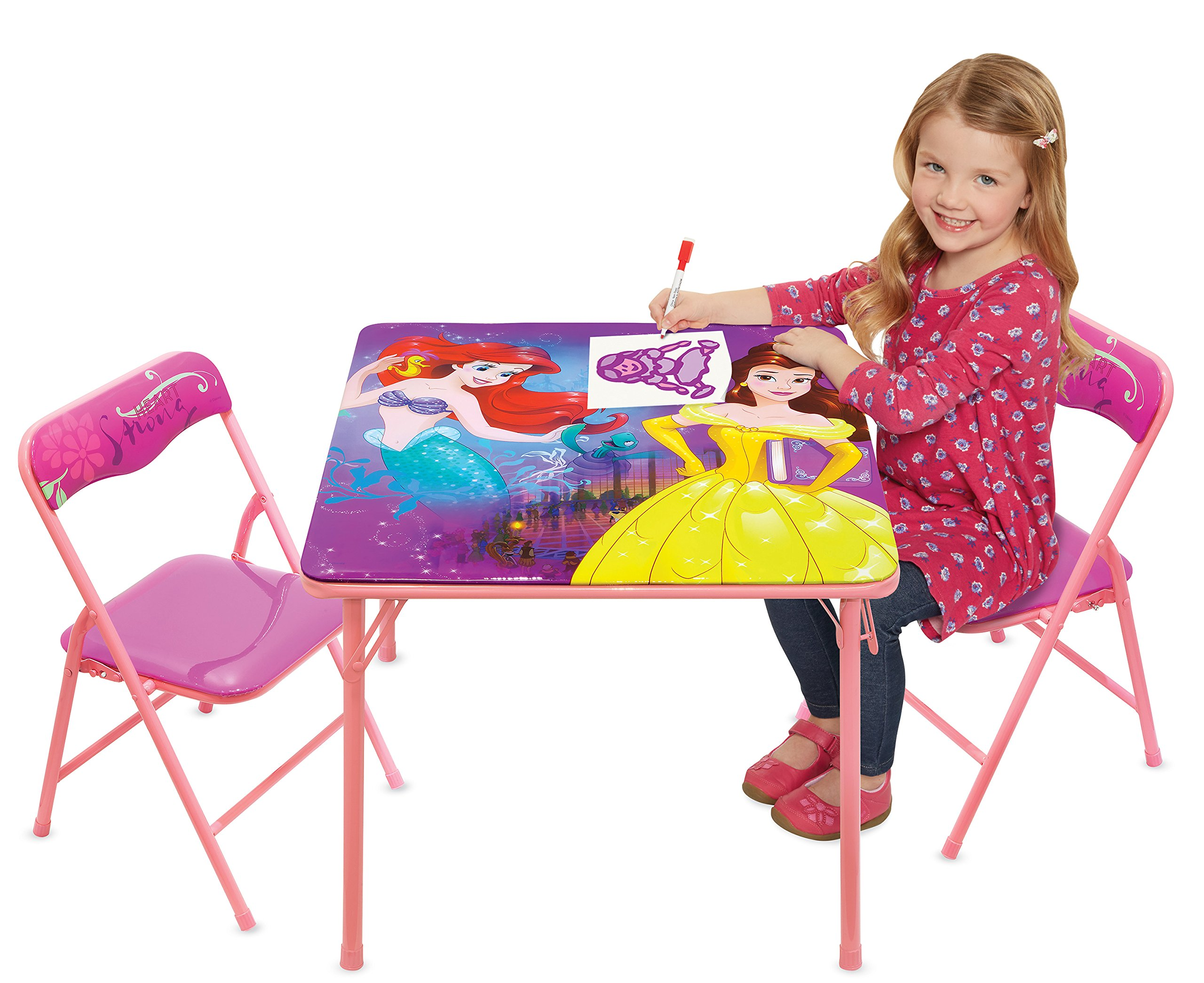Disney Princess Heart Strong Activity Table Play Set with Two Chairs by Disney Princess