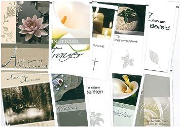 Trauerkarten Beileidskarte Kondolenzkarte 10 Stueck Doppelkarte