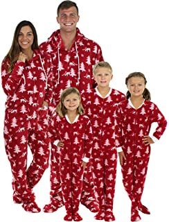 SleepytimePjs Family Matching Cranberry Deer Onesie PJs Footed Pajamas 002b1252e