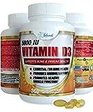 Island's Miracle Vitamin D3 5000 IU Softgel in Organic Olive Oil, Gluten Free Soy Free