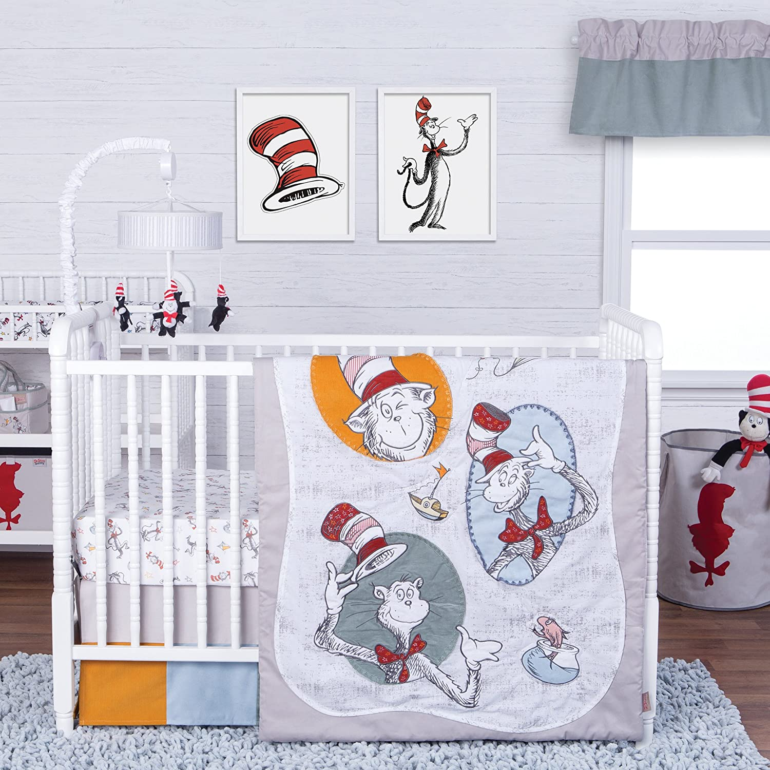 Trend Lab Dr. Seuss Classic Cat in The Hat 3Piece Crib Bedding Set