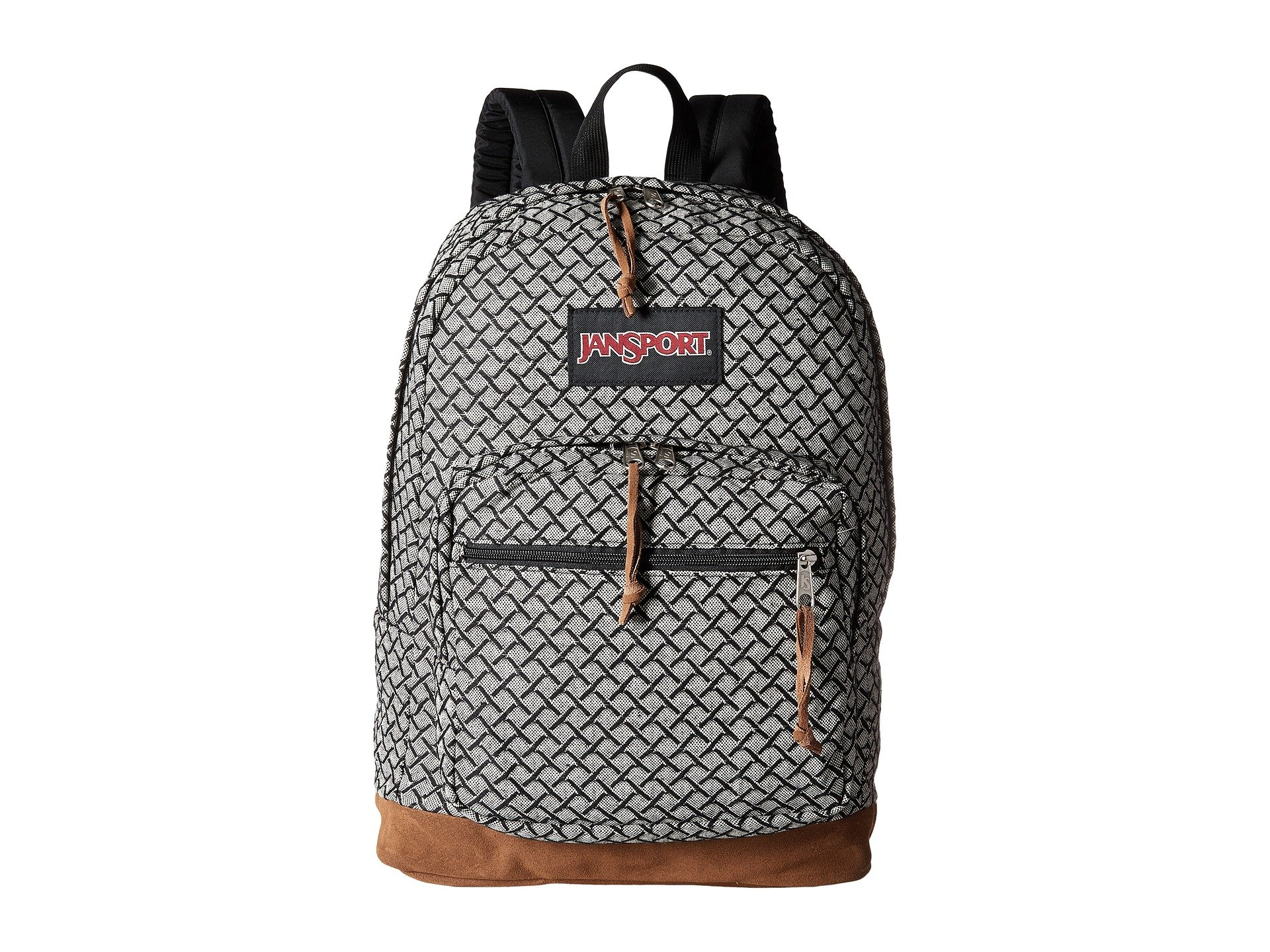 JanSport Unisex Right Pack Expressions Black/White Fish Scale Jacquard Backpack