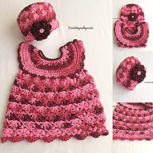 baa37e6d7d451 baby girl dress and beanie set, 6-9 Month baby outfit,spring baby dress, infant  baby outfit, Handmade baby girl dress, gifts for mom to be,valentine baby  ...