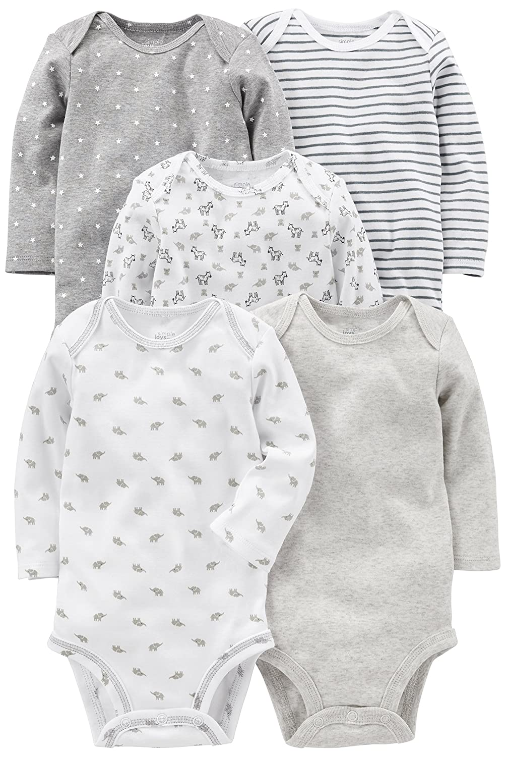Simple Joys by Carter's Baby 5-Pack Long-Sleeve Bodysuit Simple Joys by Carter's