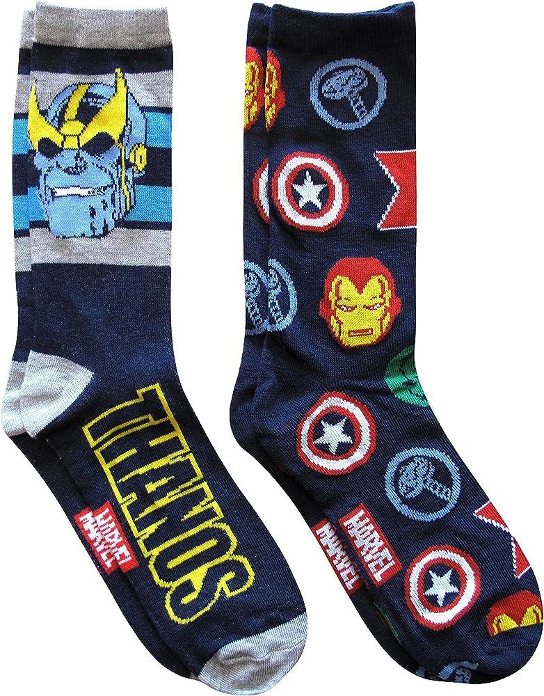 Size UK 6 up to 5 blue Boys Marvel Avengers Age of Ultron 3 pack cotton Socks