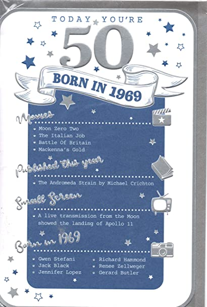Plata 50th Tarjeta de cumpleaños - 1967 Was un año muy ...