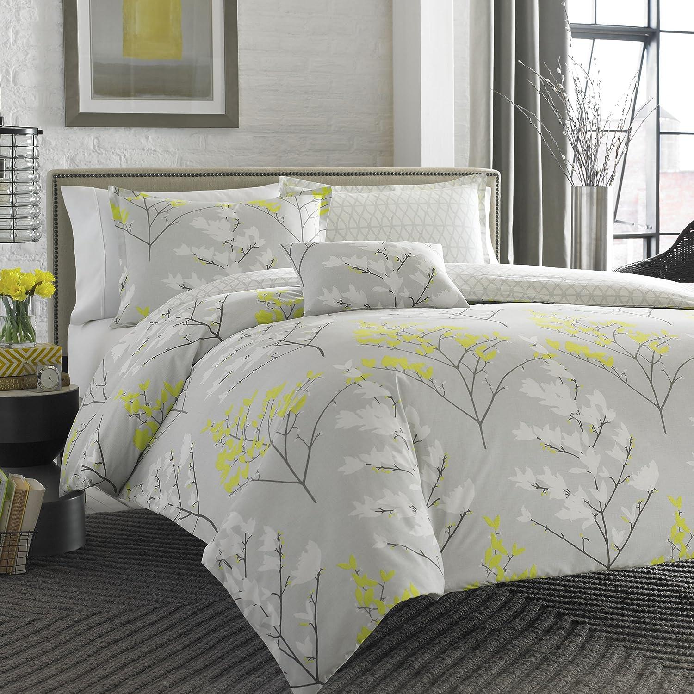City Scene Comforter Set with Bonus Decorative Pillow, Full/Queen, Elsa