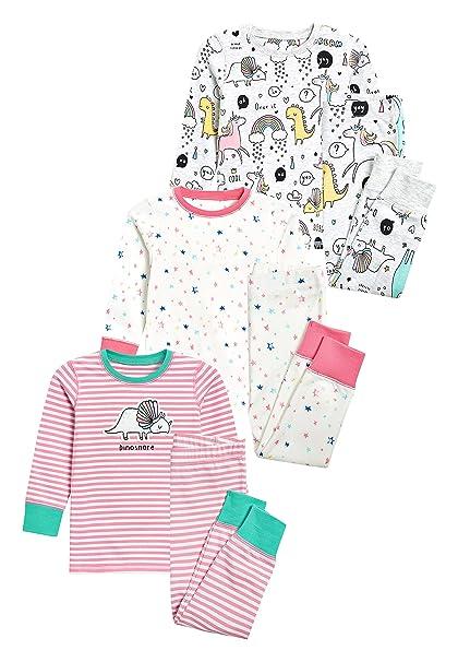 next Niñas Pack De Tres Pijamas Cómodos De Animal (9 Meses - 8 Años)