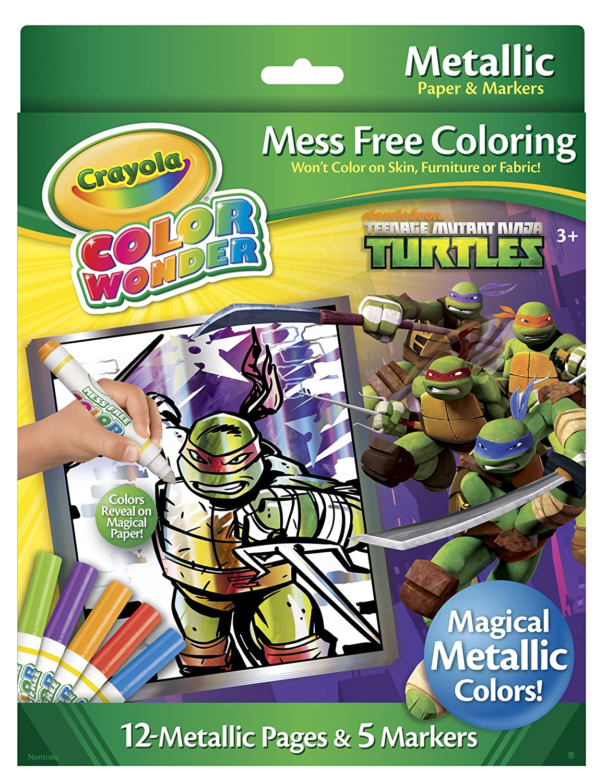 Amazon.com: Teenage Mutant Ninja Turtles Crayola Color Wonder ...