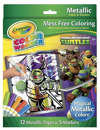 amazon com teenage mutant ninja turtles crayola color wonder