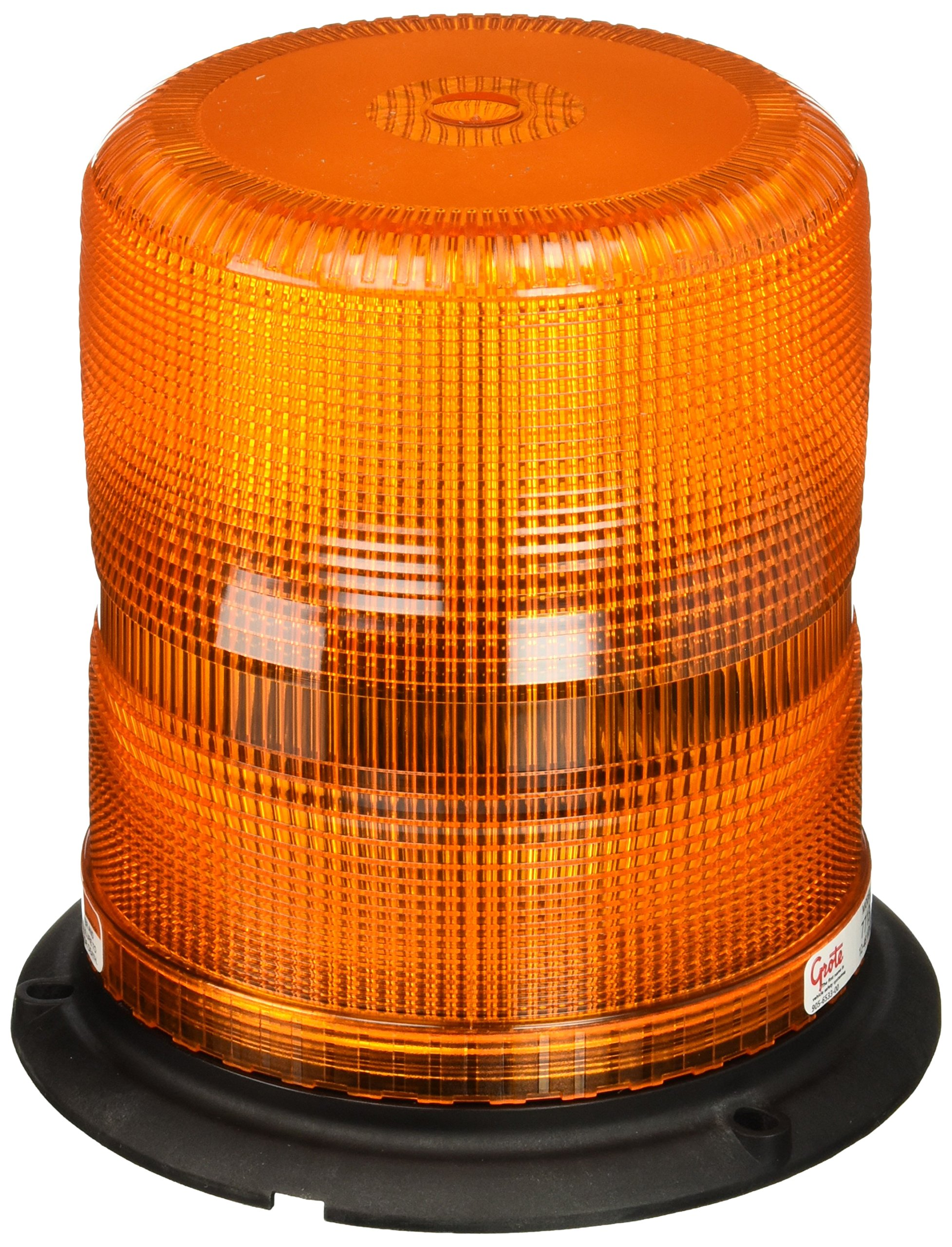 Grote 77133 Yellow High Profile Class II Plastic-Base Strobe