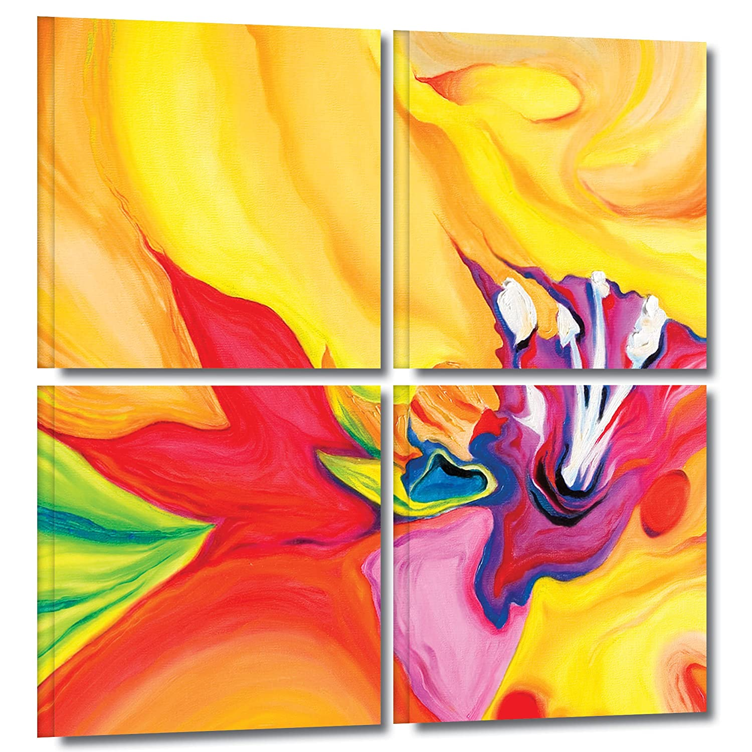 Art Wall 4-Piece Susi Franco 'Secret Life of Lily' Gallery Wrapped Canvas, 36 by 36-Inch