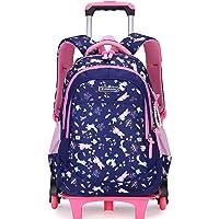 Meetbelify Kids Rolling Backpacks Luggage Wheels Trolley School Bags For Girls