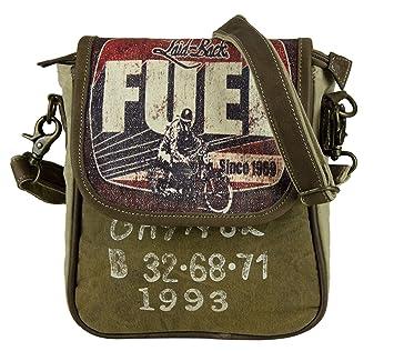 753849532635b Sunsa Damen Herren kleine Umhängetasche Schultertasche Crossbody Tasche  Canvastasche in retro Style braun beige Vintagetasche Damentasche