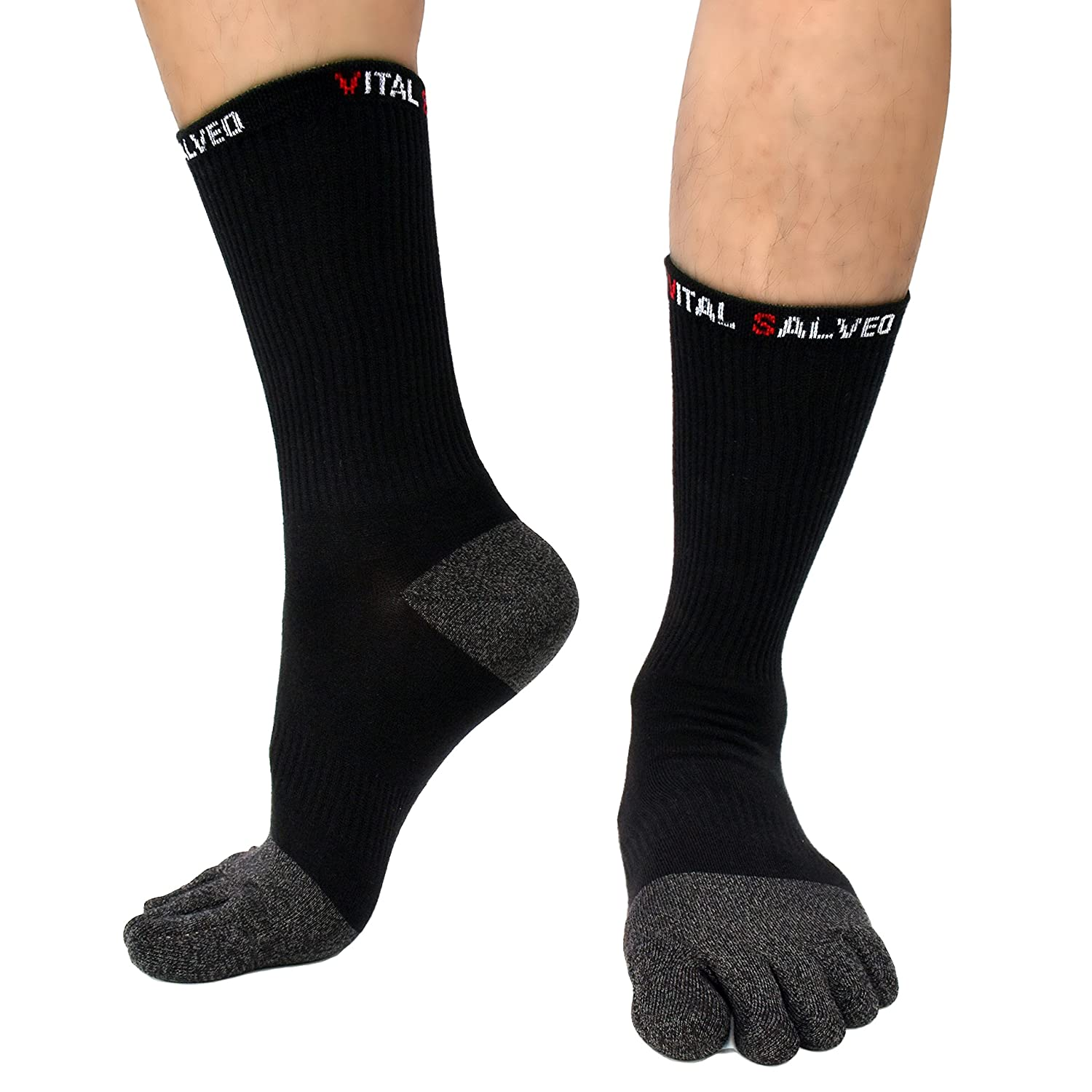 Vital Salveo- Toes Athletic Crew Socks Vital Silver 957152
