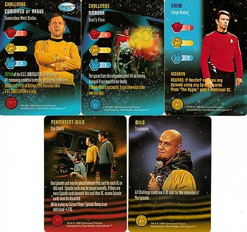 Amazon.com: 5 Uncommon tarjetas de star trek Maniobras de la ...