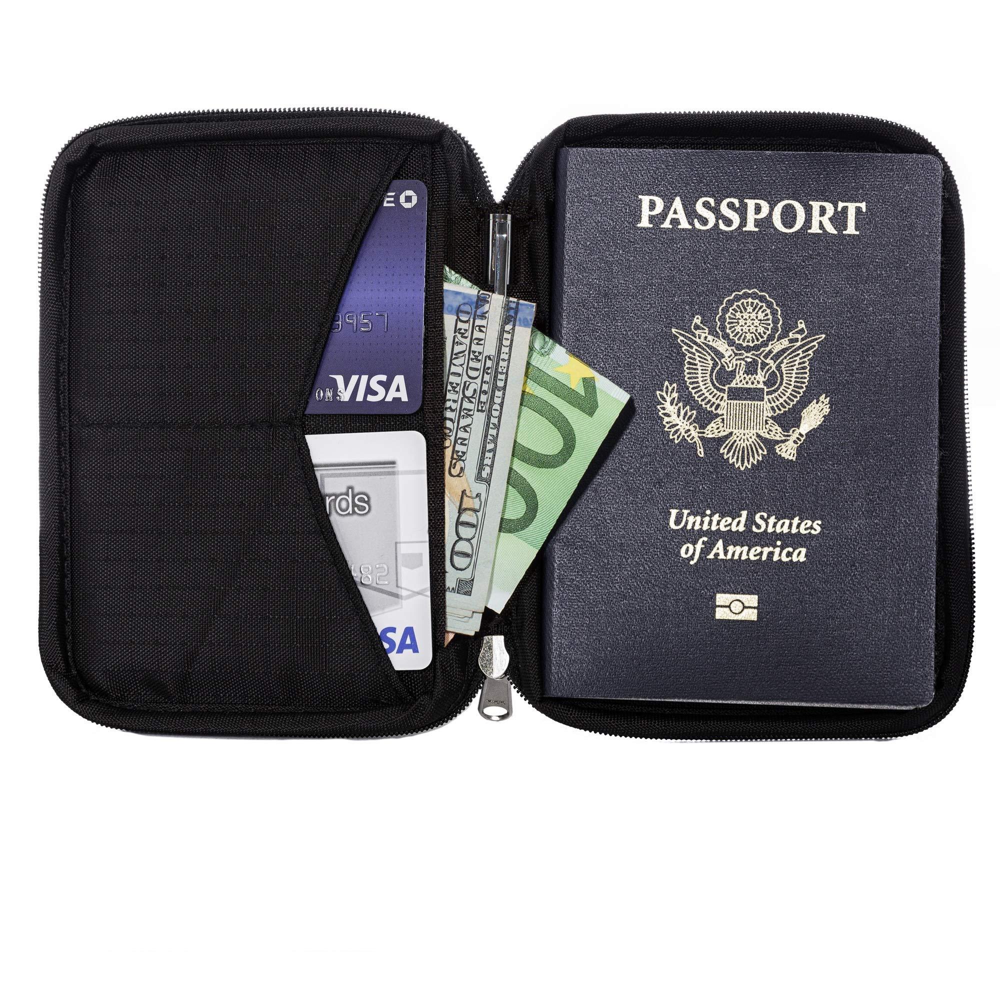 Zero Grid Passport Wallet - Travel Document Holder w/RFID Blocking by Zero Grid