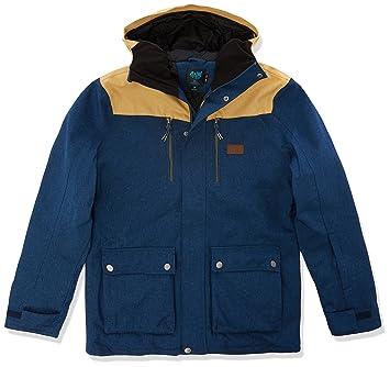 RIP CURL Hombre Cabin Gum JKT - Chaqueta de Snowboard, Otoño-Invierno, Hombre, Color Insignia Blue, tamaño Large: Amazon.es: Deportes y aire libre