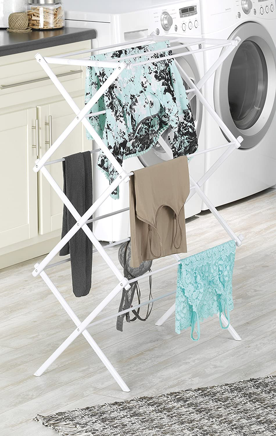 Whitmor 6023 741 Folding Clothes Drying Rack White Ca Home Kitchen