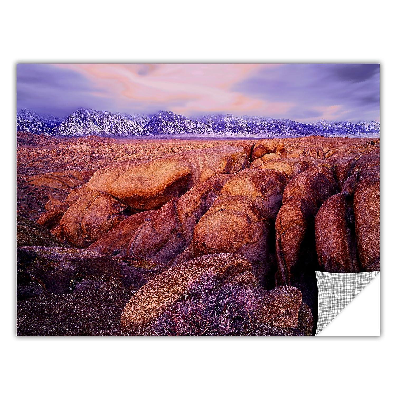 ArtWall Appealz Dean Uhlinger Sierra Dawn Storm Light Removable Graphic Wall Art 14 by 18-Inch