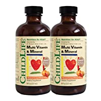 ChildLife Essentials Multi Vitamin and Mineral for Infants, Babys, Kids, Toddlers, Children, and Teens, 8-Ounce Pack of 2