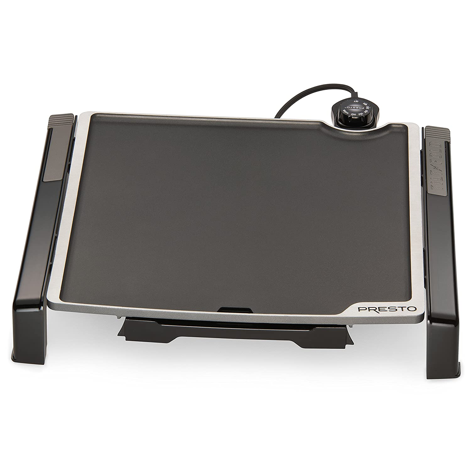 "Presto 07071 Electric Tilt-N-fold Griddle, 15"", Black"