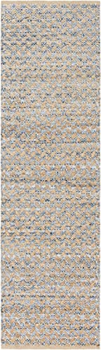 Safavieh Cape Cod Collection Blue and Natural Cotton Runner