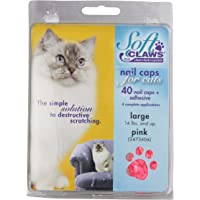 Soft Claws Feline Cat Nail Caps Take-Home Kit, Large, Pink