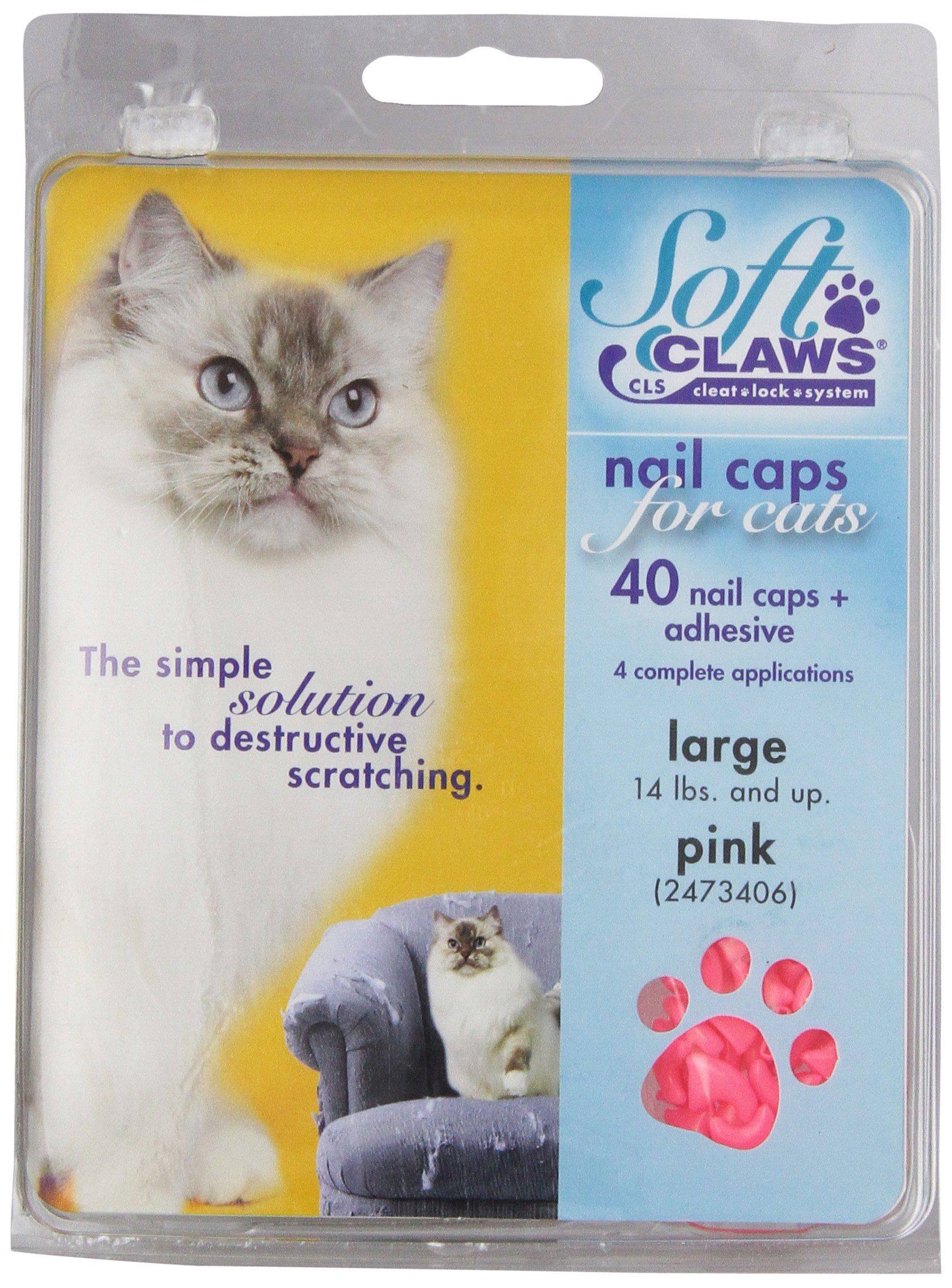 Soft Claws Nail caps - Large- Pink by Soft Claws