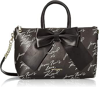 Karl Lagerfeld Paris womens Kris Faux Leather Bow Satchel