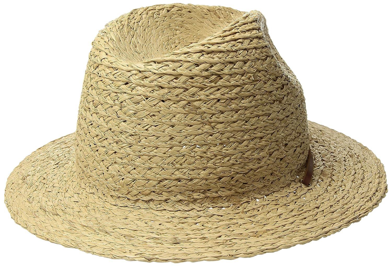 Brixton Mens Standard Levon Short Brim Straw Fedora Hat  Amazon.ca   Clothing   Accessories 70b37d23327