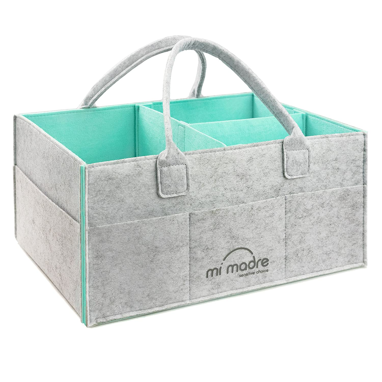 Baby Diaper Caddy Organizer | Newborn Registry Must Have | Changing Table Tote Bag - Baby Shower Gift Basket for Moms | Nursery Storage Bin | Large Portable Car Travel Organizer MIMADRE-MN-01-001