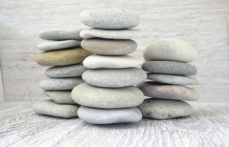 DIY Art Studio ZenStones/1 kg Piedras planas/piedras marinas/piedras/piedras decorativas/piedras de mandala/casco/piedras de playa/piedras artísticas/decoración de playa/arte de playa