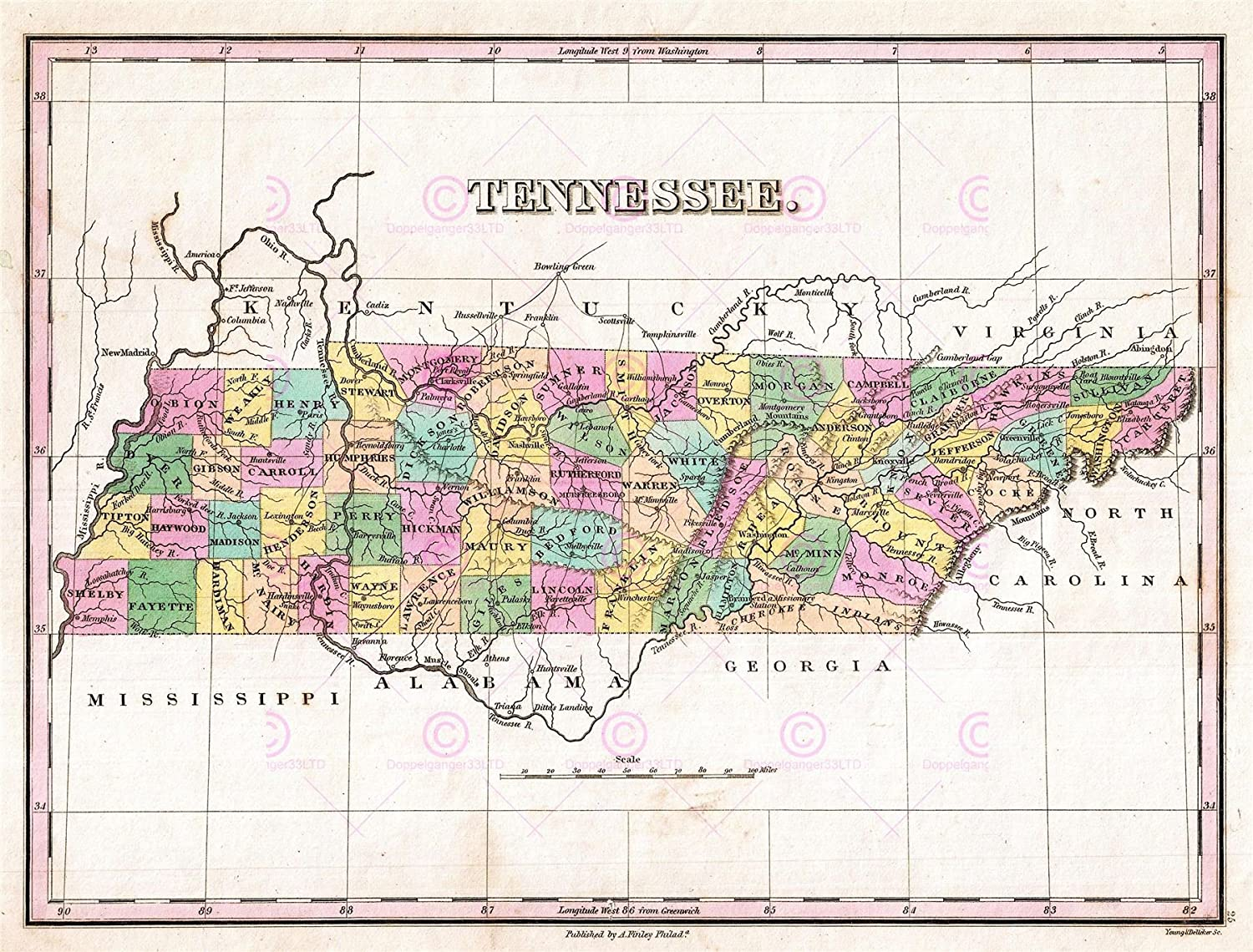 Amazon.com: Doppelganger33LTD MAP ANTIQUE 1827 FINLEY USA ... on georgia state map, state of virginia, state of deseret, state of north dakota, state of philadelphia, state of iowa counties, state of michigan townships, state of wa, state louisiana map, state of ma, state of mo, state of michigan lakes, state of nd, state of chicago, state of jefferson counties, state parks tennessee map, official tennessee state map, state of ok, state of oregon waterfalls, state of california cities,