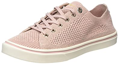 648d0a8ef85d7 Tommy Hilfiger Women s Knitted Light Weight Lace Up Low-Top Sneakers ...