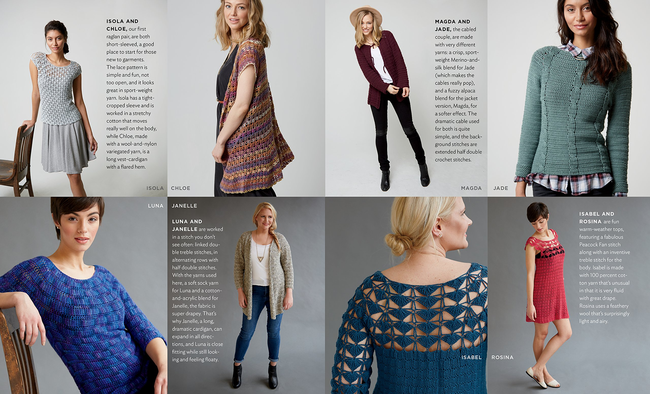 Amazon com: Top-Down Crochet Sweaters: Fabulous Patterns with