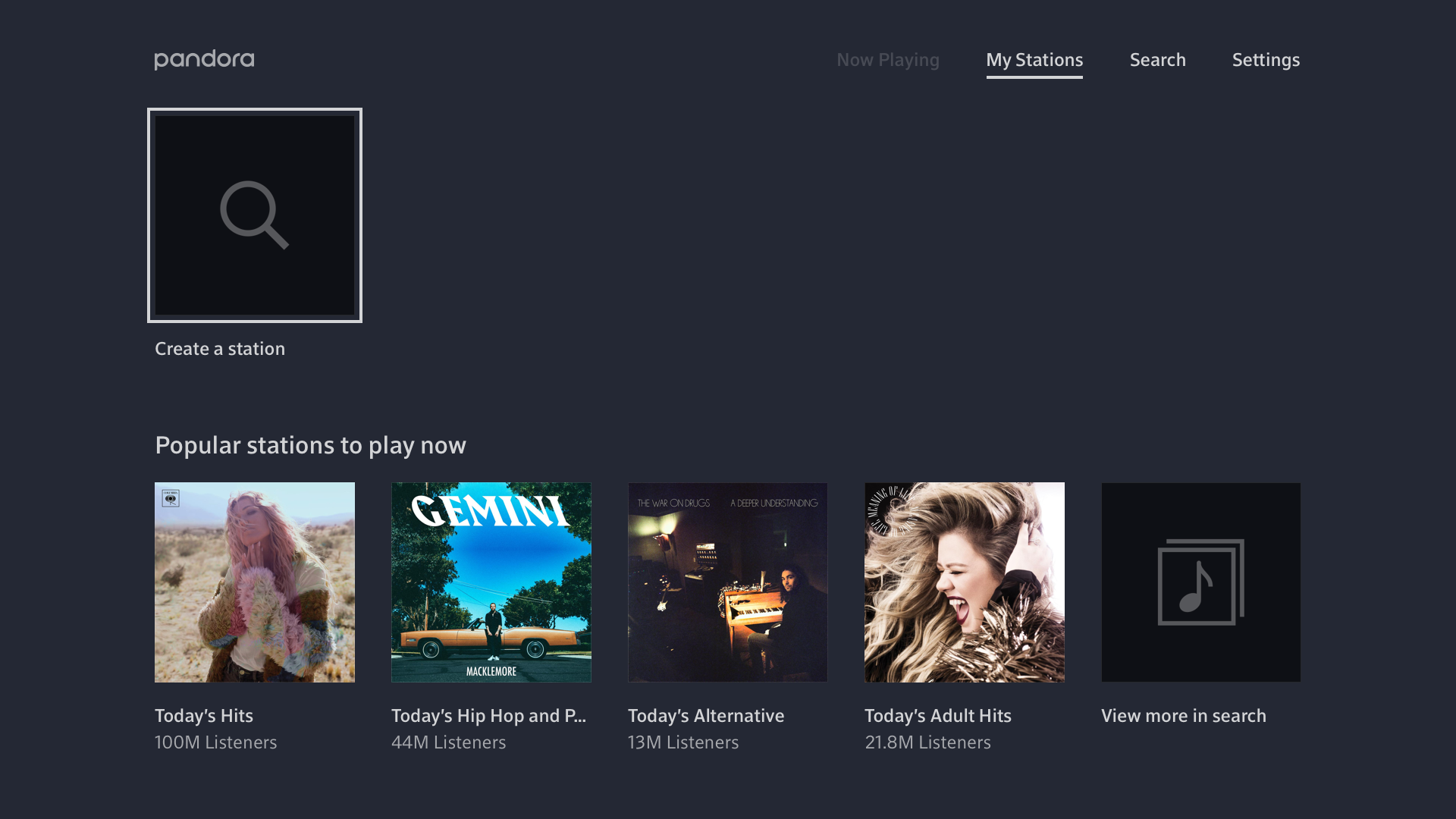 pandora download for android tablet