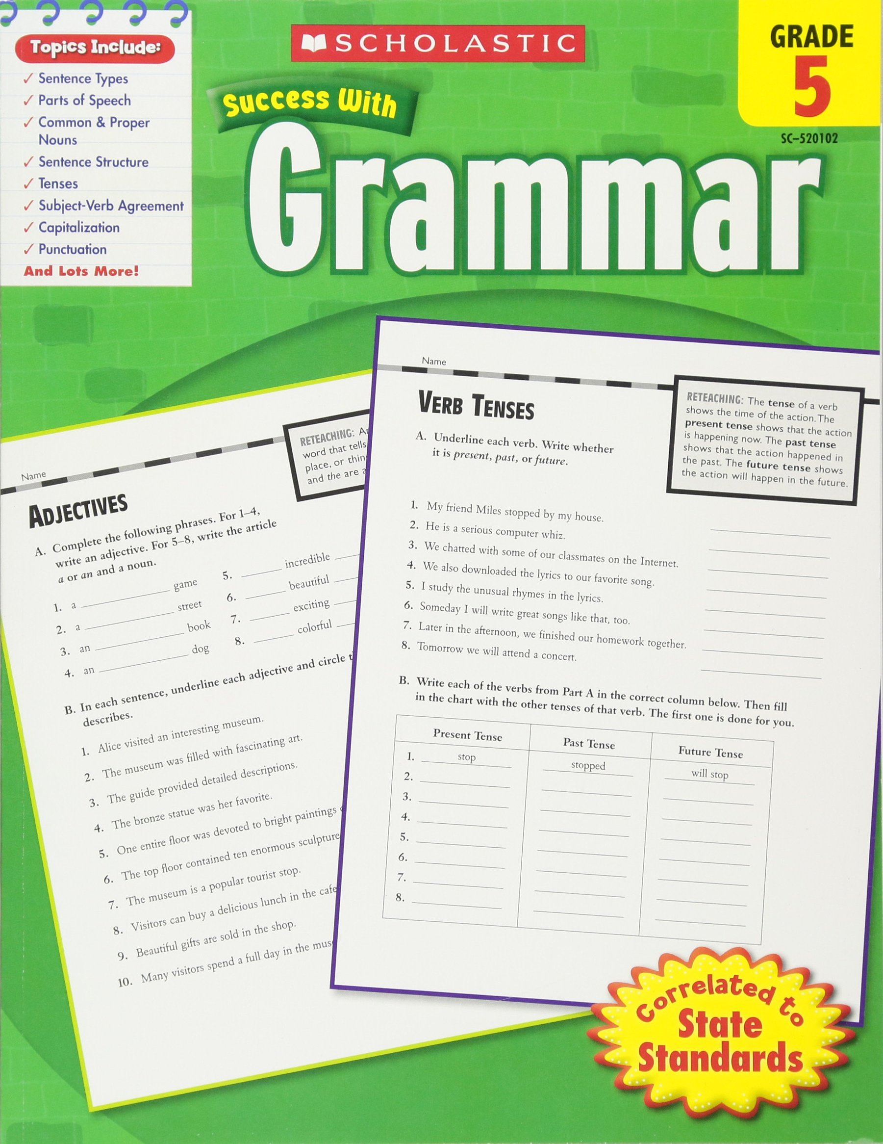 Buy Scholastic Success With Grammar Grade 5 Scholastic Success