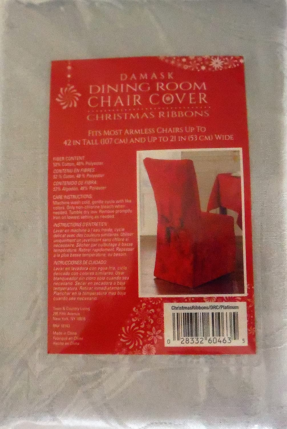 christmas ribbons dining room chair covers